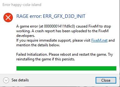 PROBLEM: Rage error: ERR_GFX_D3D_INIT - Technical Support - FiveM